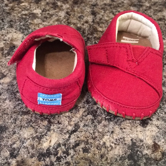 Toms Shoes   Red Toms For Baby   Poshmark
